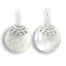 Perlmutt Muschel Ohrringe Silver Earrings Hänger Silber Schmuck SER060