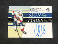 2019-20 SP AUTHENTIC ALEKSANDER BARKOV SIGN OF THE TIMES AUTO #SOTT-AB