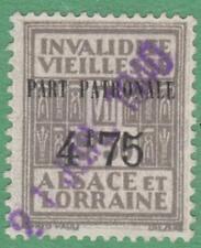 Alsace Lorraine Social Insurance Revenue #ALS142 used 4.75/9.50Fr 1936 cv $37