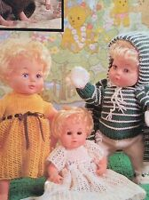 Dolls Clothes Nursery Scene (Baby size)  Knitting Pattern