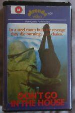 DON'T GO IN THE HOUSE PRE CERT BIG BOX EX RENTAL VHS PAL DPP72 VIDEO NASTY UNCUT