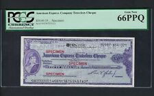 Unites State American Express Cheque 50$ Specimen Uncirculated
