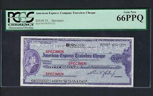 Unites State American Express Cheque 50$ Specimen Uncirculated