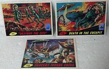 1994 Topps Mars Attacks 1st Day Series cards 3pk #11, #12, #15 only. Foil logo