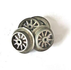 AC2099:Vintage Märklin or similar O Gauge 10 Spoke Bogie Wheels (4)