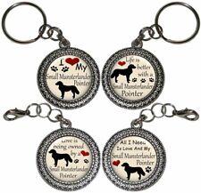 Small Munsterlander Pointer Dog Key Ring Key Chain Purse Charm Zipper Pull