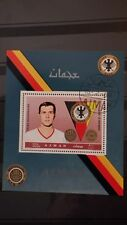 1x Bloc Sheet AJMAN Football Franz Beckenbauer Perforated Cachet MNH**