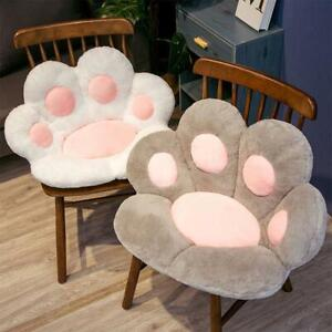 Cute Seat Cushion Cat Paw Shape Plush Lazy Sofa Office Seat Cushion Office New~