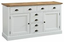 Bailey off white painted furniture large living dining room sideboard