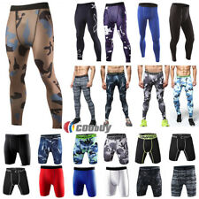 Men Compression Leggings Pants Camo Skins Shorts Base Layers Gym Trousers Hot