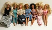 Lot of 7 Dolls (6) 1966 Mattel Barbie & (1) Rare MEGO CORP Mechanical Action