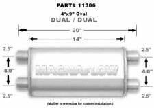 MagnaFlow Universal Satin Stainless Muffler 14X4X9 Ford Honda Toyota In Stock