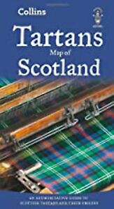 Tartans Map of Scotland (Collins Maps), New, Collins Maps Book