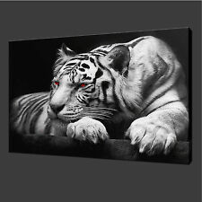 Framed Canvas Print Home Office Wall Decor Picture Modern Animal Tiger Large