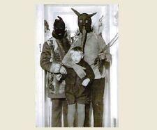 Vintage Creepy Family Halloween Hoods PHOTO Scary Costume Freak Kid Child Boy