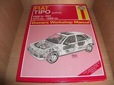 Fiat Tipo Owners Workshop Manual 1988 to 1991 (Haynes)..Petrol..1372cc/1580cc.VG
