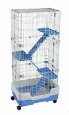 LAZY BONES LB-SA23 4 STOREY CHINCHILLA FERRET RAT DEGU CAGE BLUE