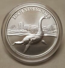 "1oz Loch Ness Monster ""Nessie"" .999 Fine Silver Round Coin Scottish Water Horse"
