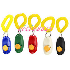 New Arrival Pet Dog Cat Bird Training Trainer Clicker Wrist Strap Toy Randomly C