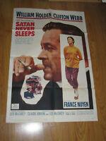 Satan Never Sleeps Original 1sh Movie Poster '62 Leo McCarey, William Holden,