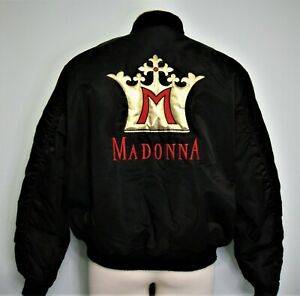 MADONNA BLOND AMBITION TOUR JACKET ORANGE LINING GOLD CROWN ALPHA Vintage Promo