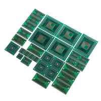 30pcs PCB Board Kit SMD Turn To DIP Adapter Converter Plate FQFP 32 44 64 80 100