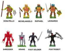 MEGA BLOKS TMNT Series 1 FACTORY SEALED x8 COMPLETE SET Teenage Mutant Turtles