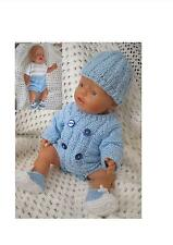 """Dolls Clothes PATTERN  """"Andrew"""" Baby Born, Annabell, other 16-18"""" Dolls"""