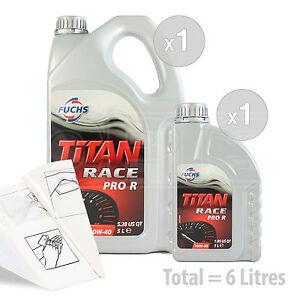 Car Engine Oil Service Kit / Pack 6 LITRES Fuchs Titan Race Pro R 10W-40 10W40