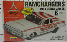 1964 RAMCHARGERS 330 SUPER STOCK SS DRAG CAR DODGE BOYS MOPAR LINDBERG MODEL KIT