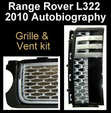 Gloss black+silver Autobiography style grille+vent kit for Range Rover L322 2010