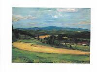"""Künstlerkarte von Anton Lamprecht, """"Landschaft im Böhmerwald"""""""