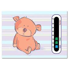 Baby Safe Ideas Cute Bear Nursery Room Thermometer - Easy Read