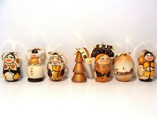 NEW Russian Hand Painted Nesting Doll Christmas Tree Ornaments 7 Piece Set