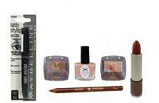 6pc Ciate & Maybelline Taupe & Brown Makeup & Nail GiftSet + Lipstick Lipliner