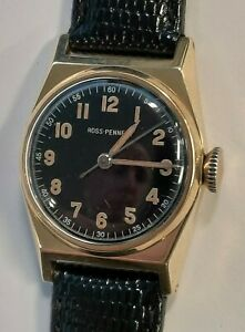 RARE VINTAGE ROSS-PENNELL MOVADO SOLID 14K YELLOW GOLD MANUAL WIND WATCH