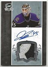 07-08 The Cup Jonathan Bernier Auto Sweet Patch Rookie Card RC #128 161/249