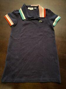 Lacoste Girls Size 4, Navy Short Sleeve Polo Shirt Dress