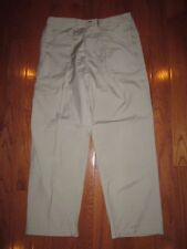REGATTA MENS GREAT OUTDOORS POLY/COTTON KHAKI PANT 10-POCKET SZ 32x29 pre-own