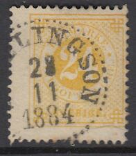 More details for sweden: 1878 24 ore yellow perf 13  sg 23a used