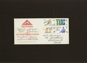 1968 Anniversaries Rare North Herts Stamp Club FDC Hitchin CDS