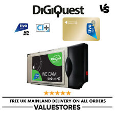 More details for digiquest we cam smartcam hd ci+ module and active italian tivusat viewing card