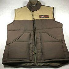 Phillips 66 Vintage 80's Lion Uniform Brown Tan Puffer Vest Mens Large