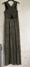 Womens Gold Pleated Dress Size 10 Topshop Party Christmas Wedding
