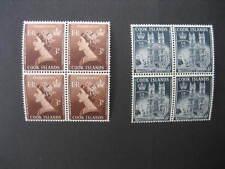 COOK ISLANDS 1953 CORONATION SET IN NHM BLOCKS OF 4 SG160/1