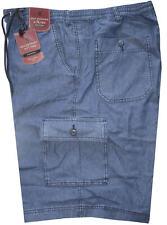 BERMUDA uomo jeans TAGLIE FORTI 3XL 4XL 5XL 6XL 7XL  calibrato blu OVERSIZE