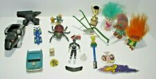 Toy Lot Includes Trolls Power Rangers Cars Stickers Buttons & More 21 items
