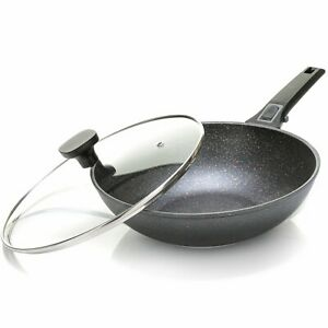 Home Icon Non-Stick Wok with Lid – Induction Compatible