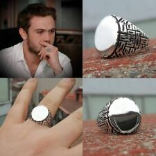 Slope Ring Silver AUTHENTIC SILVER MALE 925 Silver Cukur