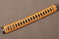 Silver Dragon Menuki Black Rayskin Orange Handle sword Katana Tsuka 26cm